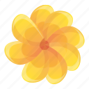 3, china, floral, flower, pattern, yellow icon