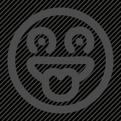 Desire Emoji Emoticon Lust Tasty Want Icon