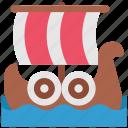 boat, ferry, history, shallop, ship, viking, warrior icon