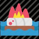 fire, history, viking, warrior icon