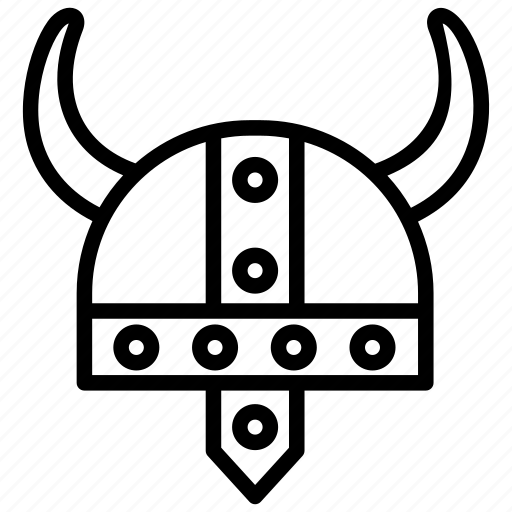horned helmet, scandinavian, viking element, viking helmet, warrior icon