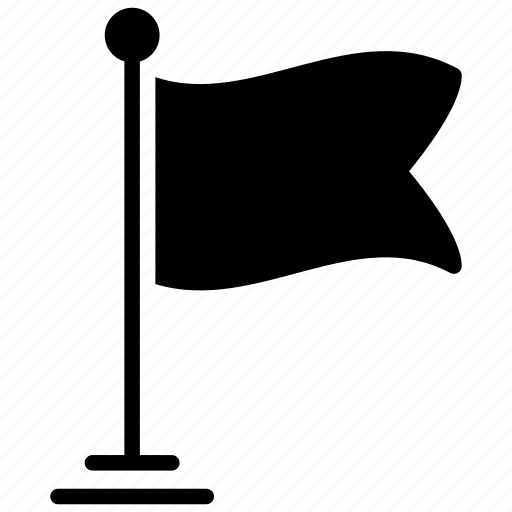 ensign, flag, flag pole, fluttering flag, location flag icon