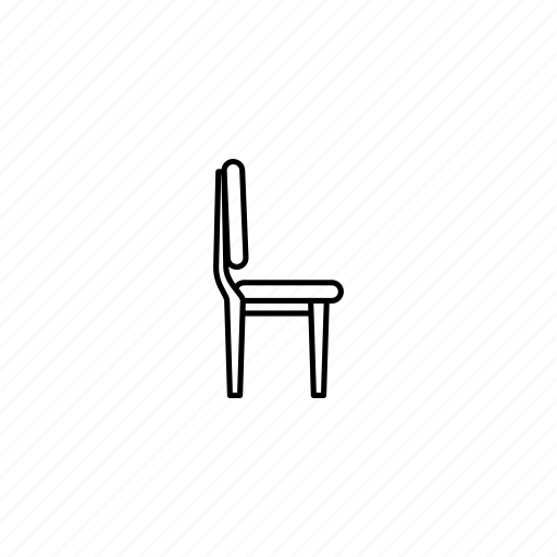chair, furniture, outline, vintage icon