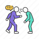 abuse, bullying, verbal, violence icon