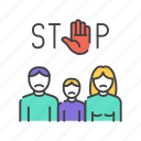 abuse, bullying, stop, violence icon