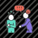 abuse, bullying, intimidation, violence icon