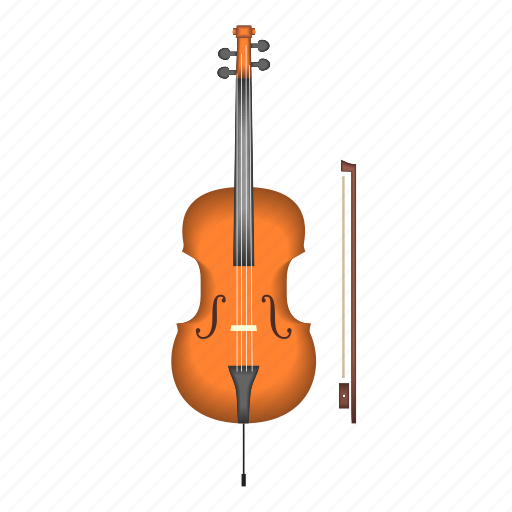 bow, cello, instrument, music, song, strings icon