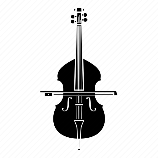 bass, bow, double bass, instrument, music, song, strings icon