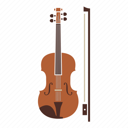 bow, instrument, music, song, strings, violin icon