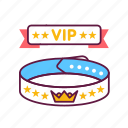 bracelet, customer, exclusive, hotel, luxury, party, service icon