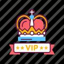 crown, customer, exclusive, luxury, premium, service, сeremony icon