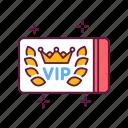 card, customer, luxury, membership, premium, service, vip icon