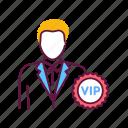 exclusive, luxury, male, membership, person, service, vip icon