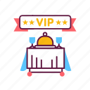 food, hotel, luxury, premium, restoraunt, service, vip icon