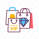 luxury, money, vip, packages, shoping, service, bag icon
