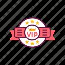 customer, exclusive, luxury, premium, service, sign, vip icon
