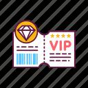 coupon, customer, luxury, premium, service, ticket, vip icon