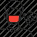 mask, medical mask, ppe, protection, safety icon