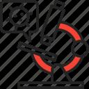 bug, virus, disease, vaccine, research icon
