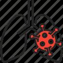 infection, cough, corona, covid, virus icon