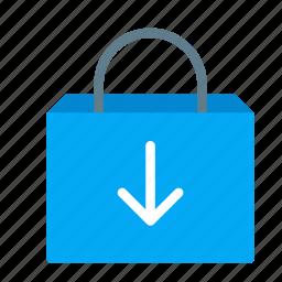 add, arrow, bag, buy, shop, shopping icon