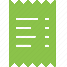 bill, invoice, payment, receipt, shop, shopping icon
