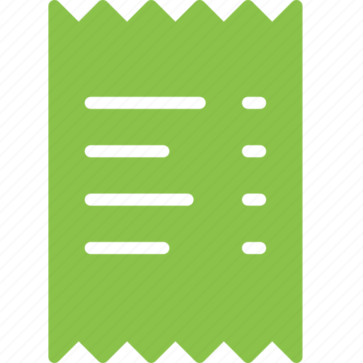 bill invoice payment receipt shop shopping icon
