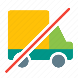 delivery, no, shipping, shopping, transport, truck, vehicle icon