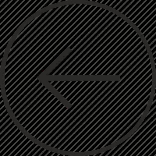 arrow, left, navigation, way icon