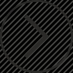arrow, right, round icon