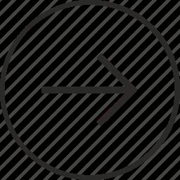 arrow, navigation, right, way icon