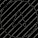 cursor, navigator, route, way icon