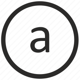 a, keyboard, letter, lowcase, virtual icon