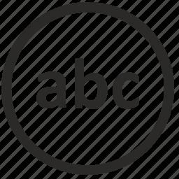 abc, enter, keyboard, lowcase, text, virtual icon