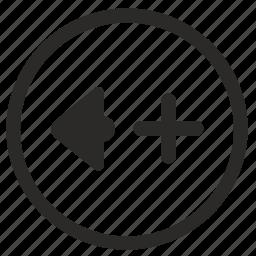 add, level, music, mute, sound, volume icon