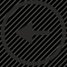 arrow, back, left, navigation, slide icon