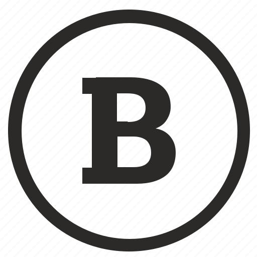 b, bold, editor, format, function, round, text icon