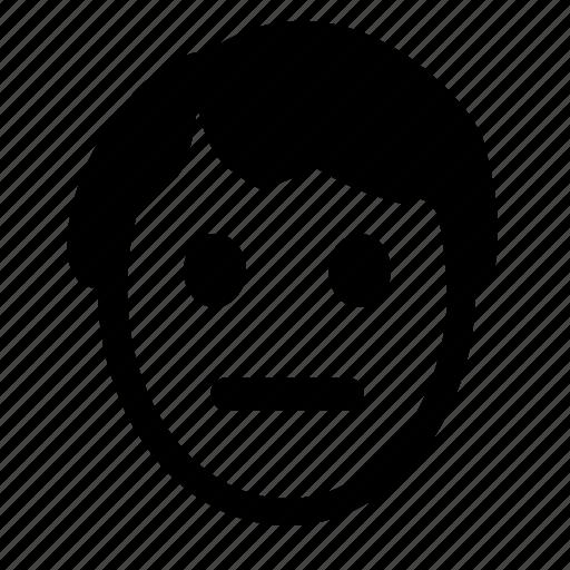 boy, face, feelings, queit, smiley icon