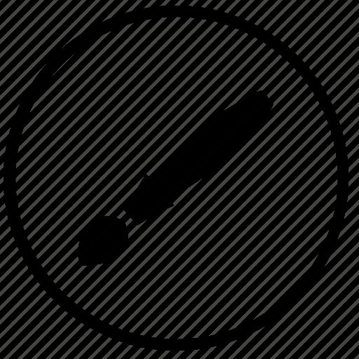 brush, draw, instrument, paint, round, tool icon