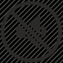 cancel, music, mute, sound, volume icon