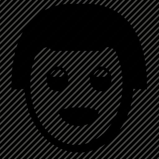 care, face, girl, hair, smiley icon