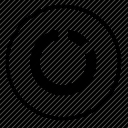 chart, data, diagramm, piece, round icon