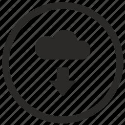 cloud, data, download, server icon