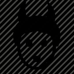devil, face, girl, hair, head, smiley, style icon
