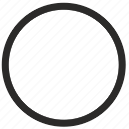 empty, keyboard, round, virtual icon