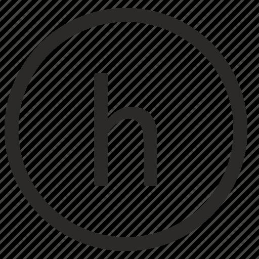 h, keyboard, letter, lowcase, virtual icon
