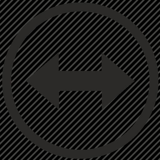 horizontal, move, navigation, screen icon