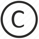 c, keyboard, letter, virtual icon