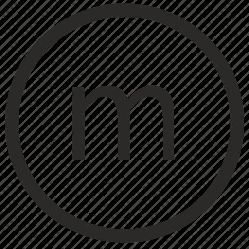 keyboard, letter, lowcase, m, virtual icon