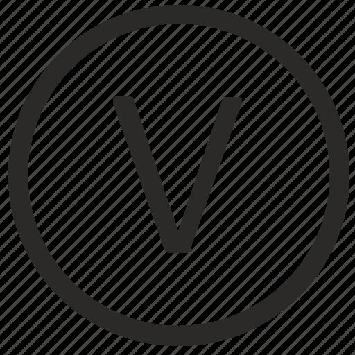 keyboard, letter, uppercase, v, virtual icon